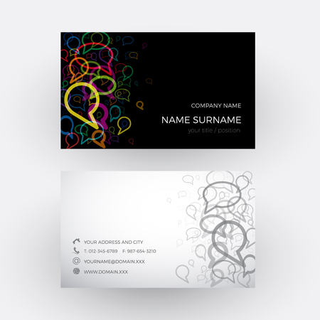 oral communication: Vector Abstract clouds, concept of talking. Business card