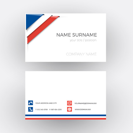 corner flag: Vector Abstract Corner with French flag. Business card