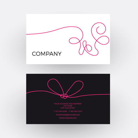 cashmere: Vector abstract woolen thread. Business card