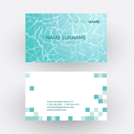 vector vector abstract waves in the pool of a spa business card - Spa Business Cards