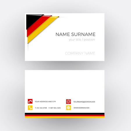 corner flag: Vector Abstract Corner with German flag. Business card
