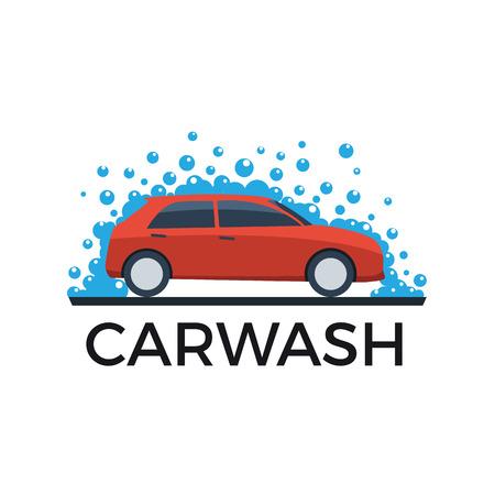 auto lavado: coche abstracta y jabón, lavado de coches