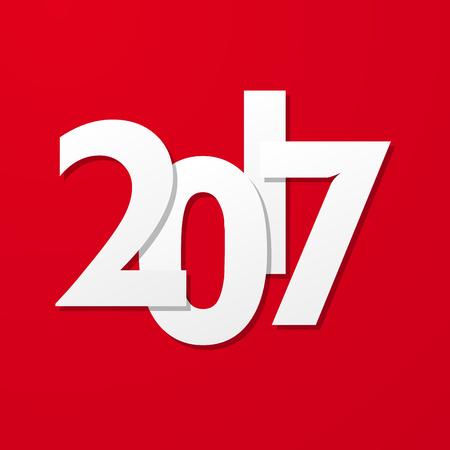 creative: red creative text 2017 Illustration