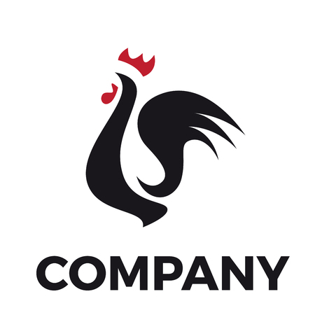 cockscomb: Vector sign abstract rooster Illustration