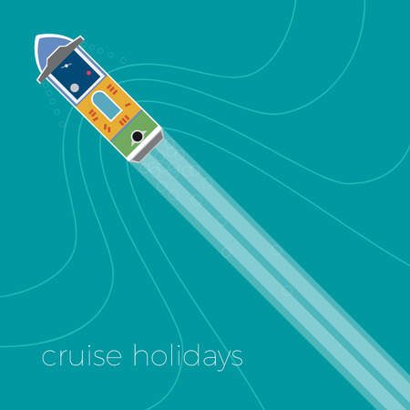 tour operator: Vector cruise holiday background