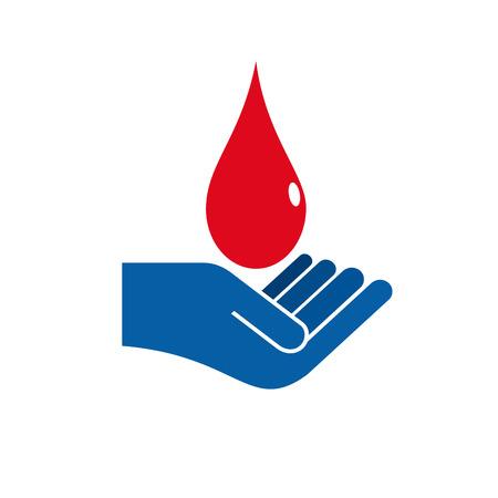 sign blood donation concept Иллюстрация