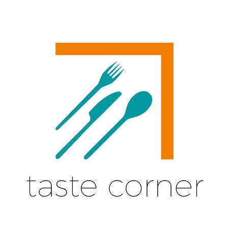 taste: sign abstract restaurant, taste corner