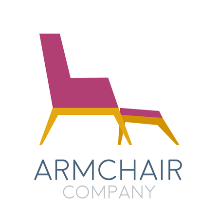 sign abstract vintage armchair