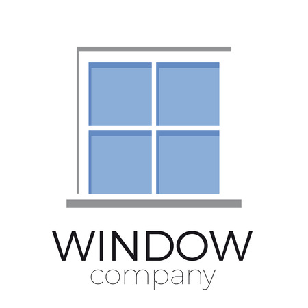 building trade: sign window with blue glasses