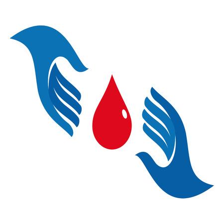 sign blood donation concept Illustration
