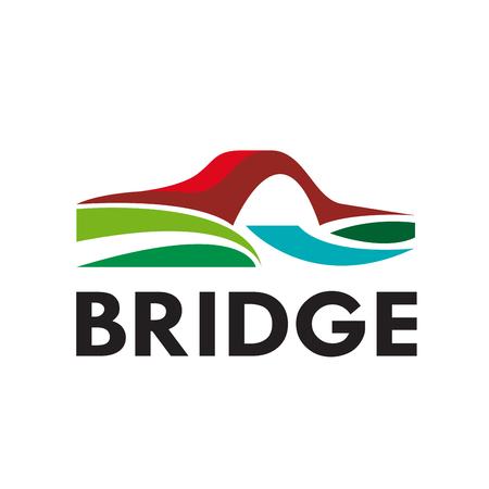 driven: abstract bridge, connection concept Illustration