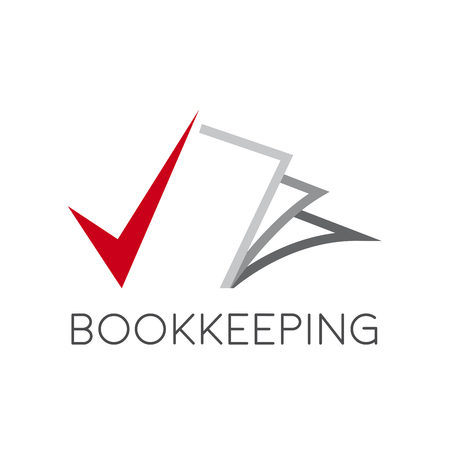bookkeeping: sign bookkeeping concept Illustration