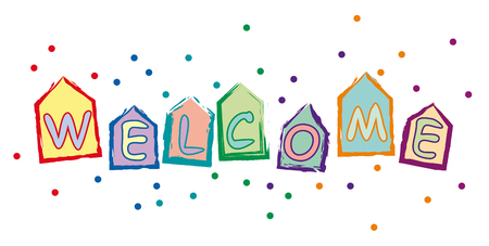text welcome home, school and residence