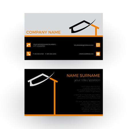 casa resumen, el concepto de constructor. tarjeta comercial