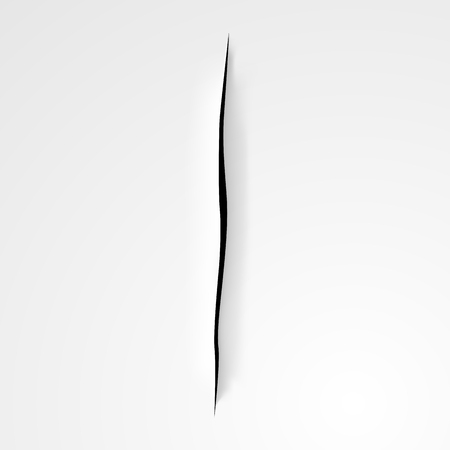 slash: Cutting on the paper,  background in Lucio Fontana style.