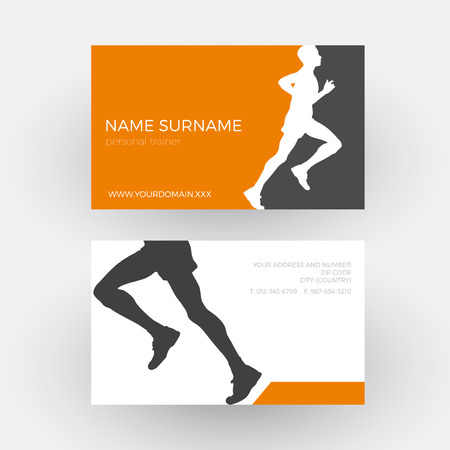 abstract runner and personal trainer. Business card