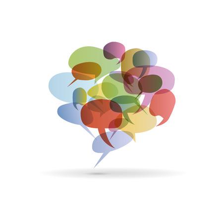 dialog bubble: Abstract colorful dialog bubble