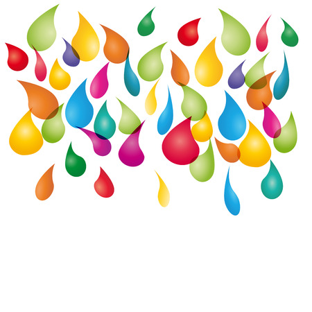 abstract colored background with drops of printer