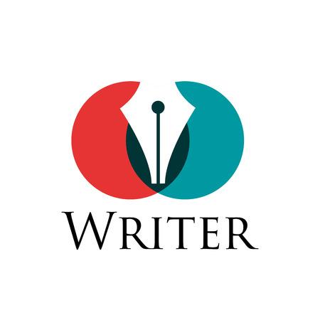 storyteller: sign writer. Fountain pen in two circles