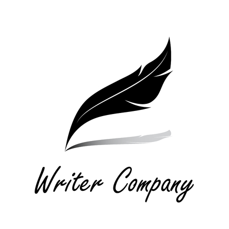the writer: sign writer. Inkwell with the shadow
