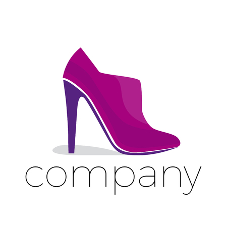 purple shoes: Vector abstract purple shoes, isolated icon