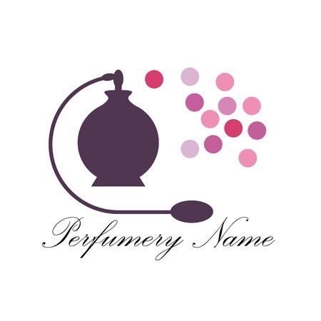 perfumery: Vector abstract icon perfumery store