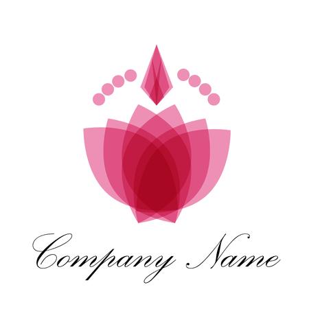 perfumery: Vector abstract icon perfumery store and spa Illustration