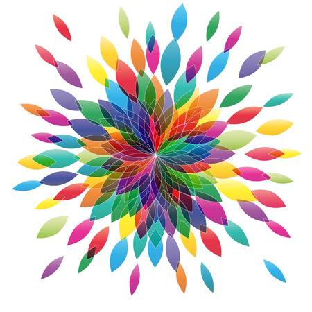 Vector flower in abstract shape. Spring concept Vektorové ilustrace