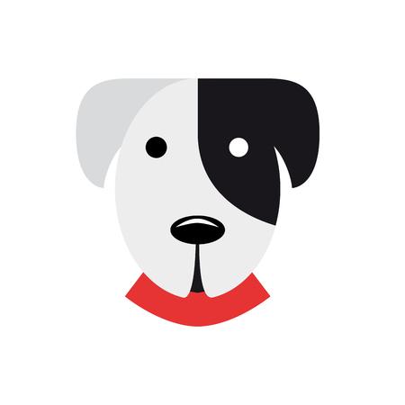 dalmatian: Vector abstract sign portrait of a dalmatian dog