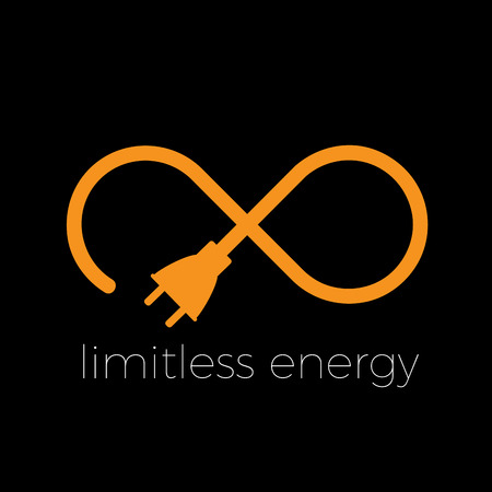 electricity company: Vector abstract infinite, limitless energy