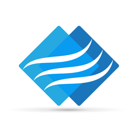 Abstract air conditioning, vector icon