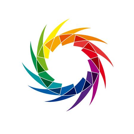 Vector abstract rings, rainbow shape