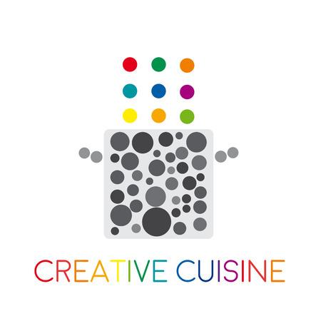 futurist: Vector abstract creative food in cuisine