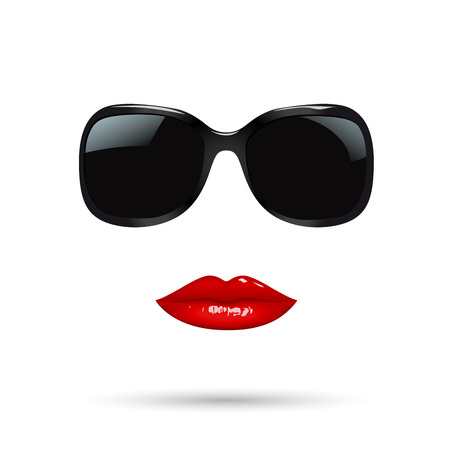 metaphysics: abstract portrait of a woman with sunglasses