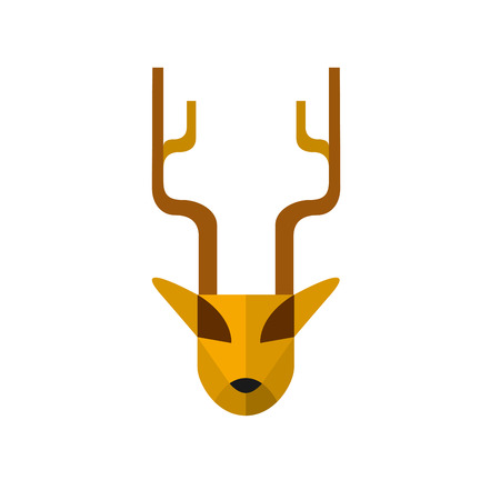fallow: Vector abstract isolated sign deer