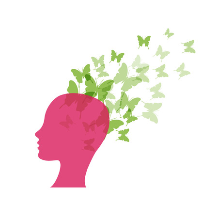 optimismo: Vector concepto imaginación y optimismo