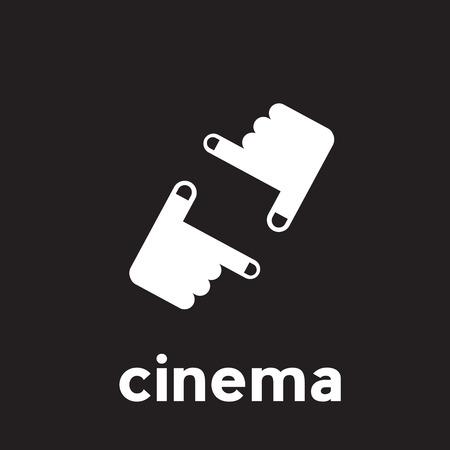 filmmaker: Vector abstract linear cinema and filmmaker