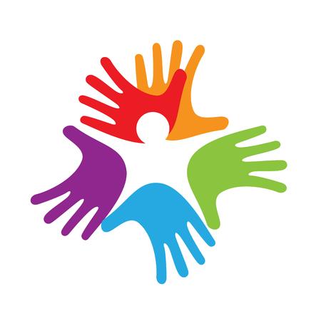 solidaridad: bebé manos en el interior, el concepto de la solidaridad