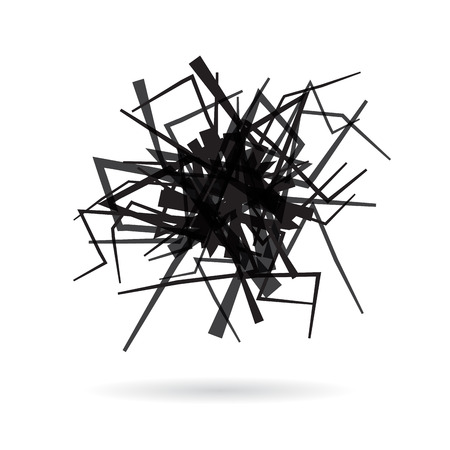 clew: Vector abstract scribble of a iron wire clew