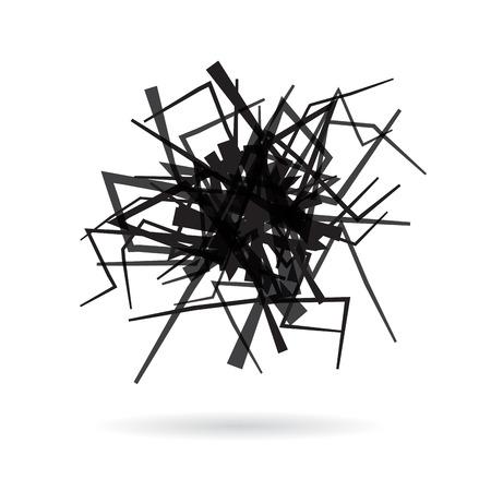 Vector abstract scribble of a iron wire clew Vektoros illusztráció