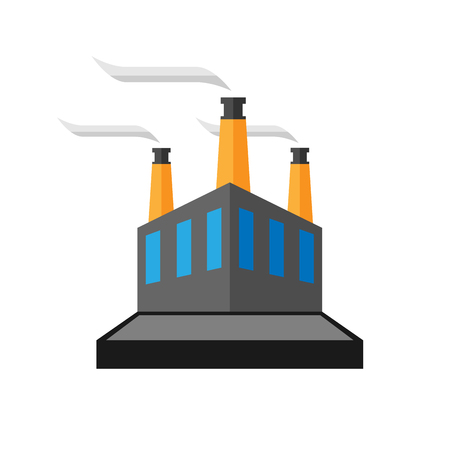 power icon: Vector abstract factory and industry Illustration