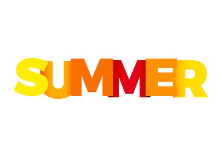 colores calidos: Vector de texto verano, colores cálidos