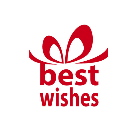 best wishes: Creative box for gift with best wishes, text of word