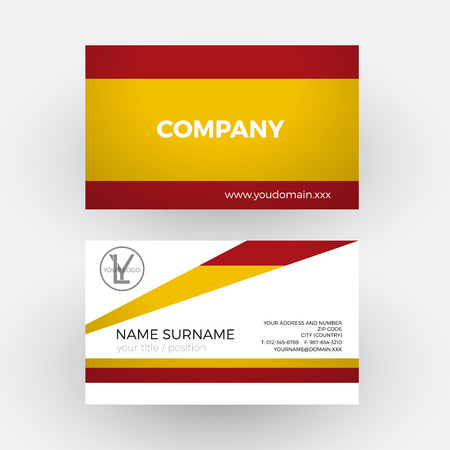 spanish flag: Vector abstract spanish flag. Professional business card for Spain Illustration