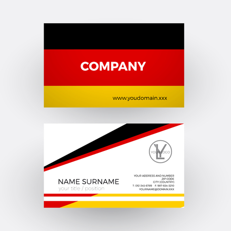 Vector abstract german flag professional business card for germany vector abstract german flag professional business card for germany royalty free cliparts vectors and stock illustration image 67499469 reheart Images