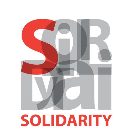 solidaridad: la solidaridad del vector. texto roto Vectores