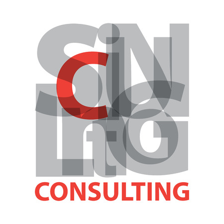 questioned: Vector consulting. Broken text Illustration
