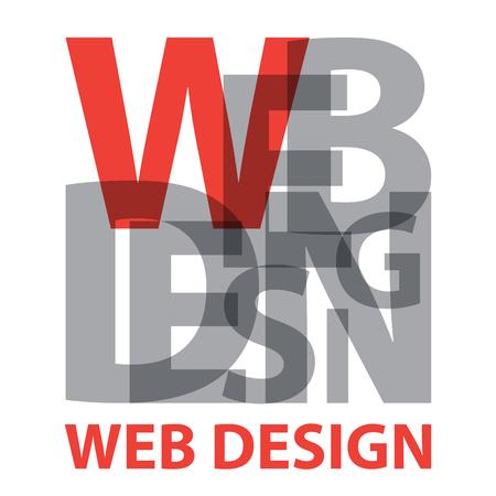 ベクター web デザイン。破損したテキスト