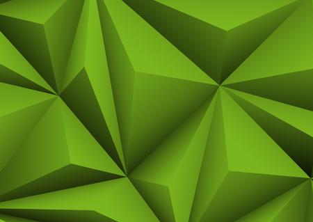 forme: Résumé de fond vert géométrique. papier plié en forme triangle.