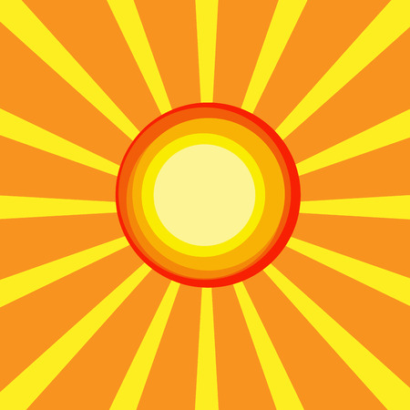 summer background, vector illustration with sun and ray